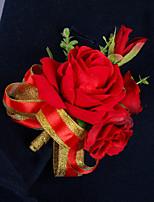 Ramos de Flores para Boda Forma Libre Rosas Peonías Ojales Boda Fiesta / noche Satén