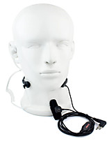 2 puces ptt throat microphone casque walkie talkie tube acoustique caché pour motorola gp88 gp300 gp2000 hyt tc-500s