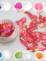 1bottle Sweet Style Fashion Colorful Nail Art Glitter Shell Paillette Decoration Beautiful Decoration Nail DIY Beauty Slice Design BK01-13