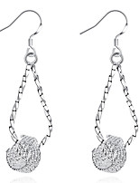 Concise Silver Plated Hanging Tennis Style Twist Dangle Earrings for Party Women Jewelry Accessiories