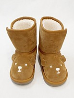Damen-Stiefel-Lässig-Lackleder-Flacher Absatz-Komfort-Grau Braun