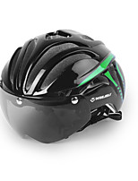 WINMAX Bicycle Cycling Helmet Ultralight Integrally-molded MTB Road Bike Helmet Goggles Helmet with Magnetic UV Visor