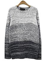 Herren Standard Pullover-Ausgehen Lässig/Alltäglich Einfach Einfarbig Rundhalsausschnitt Langarm Wolle Herbst Winter Mittel