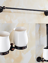 A Set of Three Products(Bathroom Shelf/Toothbrush Holder/Toilet Brush Holder/Shower Basket) Of Oil Rubbed Bronze