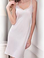Ultra Sexy Vêtement de nuit Femme,Sexy Couleur Pleine-Mince Rayonne Aux femmes