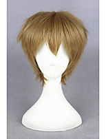 court maître blond super perruque cheveux cosplay anime 12inch synthétique cs-223b