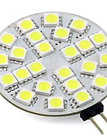 4W G4 LED Bi-pin Lights 24 SMD 5050 350Lm Warm/Cool White AC/DC 12V for Chandelier/Rang Hood/ Boat (1 Piece