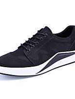 Черный Серый-Для мужчин-Для офиса Повседневный Для занятий спортом-Тюль-На плоской подошве-Удобная обувь-Кеды