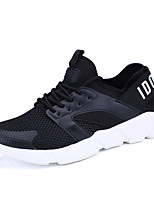 Men's Sneakers Spring Summer Fall Comfort Light Soles Tulle Outdoor Casual Flat Heel Walking Shoes Black White Red