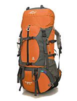 65 L Randonnée pack sac à dos Sac à Dos de Randonnée Etanche Multifonctionnel Jaune Rouge Bleu Orange Olive