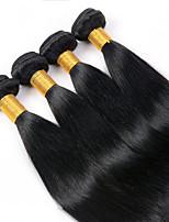 Cabelo Humano Ondulado Cabelo Malaio Retas 12 meses 4 Peças tece cabelo