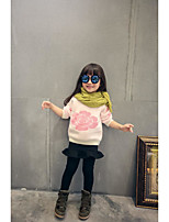 Casual/Daily Floral Blouse,Cotton Winter Fall
