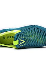 Синий-Для мужчин-Повседневный-Полиуретан-На плоской подошве-Удобная обувь-Туфли на шнуровке