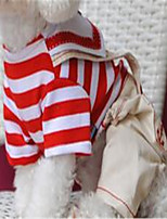 Dog Clothes/Jumpsuit Dog Clothes Spring/Fall Stripe Casual/Daily