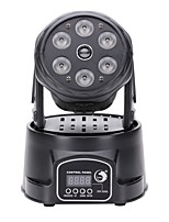 U'King 100W RGBW 6 LEDs 1 Red Laser 150mW Moving Head Stage Lighting for DJ KTV Disco Party Ballroom