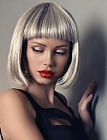 chaud vente perruque blonde cheveux sombres racines hombre perruque blonde courte bob perruques de cheveux synthétiques résistant à la