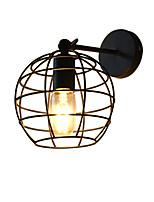 Ac220v-240v 4w e27 führte helle steine hohle runde Eisenwandlampe dumme schwarze amerikanische Dekoration lightsaber Lampe auf Wand