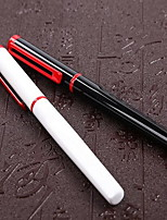 Ручка Ручка Перьевых ручек Ручка,Металл бочка Черный Цвета чернил For Школьные принадлежности Офисные принадлежности В упаковке
