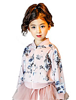 Girls' Going out Casual/Daily School Solid Floral Suit & Blazer,Cotton All Seasons Long Sleeve
