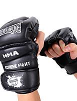 Боксерские перчатки для Бокс Без пальцев Защитный PU Черный Красный Синий
