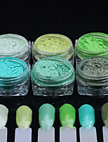6PCS Nail Art Grass Green A Series of Toner