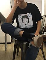 sinal edison 4pk de manga curta de manga curta homens e mulheres dasha t-shirt impressão maré