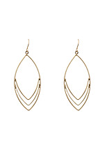 Drop Earrings Alloy Friendship Fashion Euramerican Oval Gold Jewelry Wedding Party Halloween Daily Casual Sports 1 pair