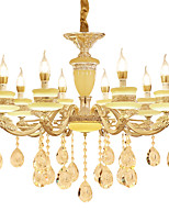 European Style Atmosphere Zinc Alloy Crystal Living Room Bedroom Home Chandelier