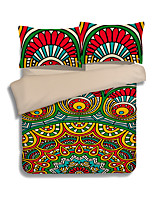 Housses de couette 3 pièces en polyester motif réactive imprimé style bohème en polyester 1pc housse de couette 2pcs shams