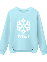 Inspired by Game OW Overwatch Mei Cosplay T-shirt Blue Print Snowflake Long Sleeve Cosplay Costumes