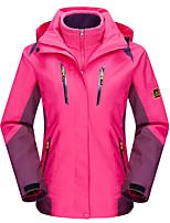 LEIBINDI®Women's Winter Jacket 3-in-1 Jackets Outdoor Sport Hiking Snowsports Waterproof Windproof Thermal / Warm Windproof Coat
