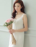 Ultra Sexy Vêtement de nuit Femme,Dentelle Couleur Pleine-Moyen Coton Aux femmes