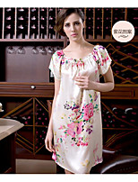 Women's Satin & Silk Nightwear Floral-Thin Medium Silk Women's