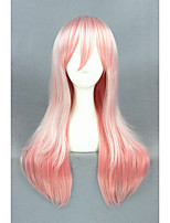 Long Straight Super Sonico Pink Mixed Synthetic 24inch Anime Cosplay WigCS-212A