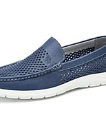 Черный Синий-Для мужчин-Для офиса Повседневный-Кожа-На плоской подошве-Удобная обувь-Мокасины и Свитер