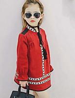 Vestido Chica de Playa Algodón Manga Larga Verano Otoño