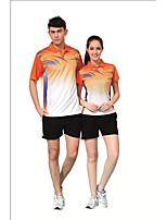 Men's Half Sleeve Tennis Clothing Sets/Suits Baggy Shorts Breathable Comfortable Green Red Blue Orange Black BadmintonM L XL XXL XXXL