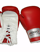 Boxing Gloves for Boxing Muay Thai Karate Mixed Martial Arts (MMA) Full-finger Gloves Breathable Wearproof Protective Adjustable PU