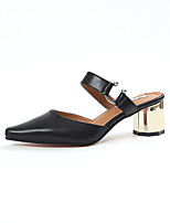 Damen-Slippers & Flip-Flops-Lässig-PU-Blockabsatz-Komfort-Weiß Schwarz Gelb