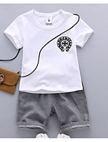 Girls' Casual/Daily Solid Sets,Cotton Summer Spring Clothing Set