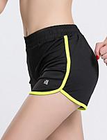 Mulheres Corrida Shorts Respirável Secagem Rápida Antibacteriano Redutor de Suor Verão Ioga Exercício e Atividade Física Elastano Terylene