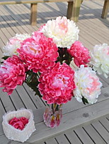 1 Branch Plastic Peonies Tabletop Flower Artificial Flowers 20*20*55