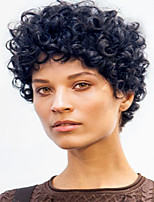 Perfect  Black Short Curly Hair  Synthetic Wig  Woman hair