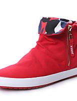 Черный Красный Синий-Для женщин-Повседневный-Полотно-На плоской подошве-Удобная обувь-Мокасины и Свитер