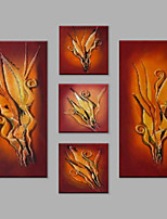 Hand-Painted Abstract Any Shape,Modern European Style Five Panels Canvas Oil Painting For Home Decoration