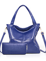 Women Bag Sets PU All Seasons Formal Casual Event/Party Wedding Office & Career Barrel Zipper Purple Gray Black Blue