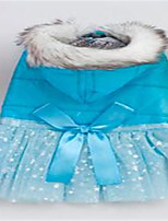 Dog Dress Dog Clothes Spring/Fall Solid Cute Yellow Blue