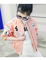 Girls' Casual/Daily Formal Solid Jacket & Coat,Cotton Spring Fall Half Sleeve