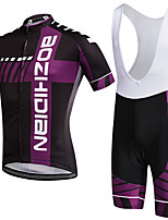 AOZHIDIAN Summer Cycling Jersey Short Sleeves BIB Shorts Ropa Ciclismo Cycling Clothing Suits #AZD132