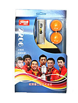 2 Stars Ping Pang/Table Tennis Rackets Ping Pang Wood Short Handle Pimples Indoor Performance Practise Leisure Sports-#